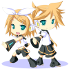 Kagamine Rin and Len Animated Rainmeter Theme For Windows 7