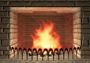 Living 3D fireplace