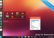 Unity 3.0 Rainmeter Theme