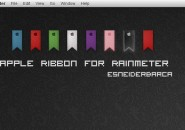 Apple Ribbon Rainmeter Skin For Windows 7