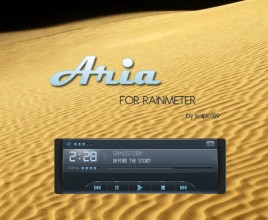 Aria Windows 7 Rainmeter Theme