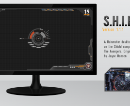 Avengers Shield Rainmeter Skin For Windows 7