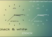 BW Clock Windows 7 Rainmeter Skin