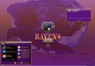 Batimored Ravens Windows Blind Theme