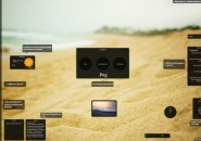Beach shore Rainmeter Skin