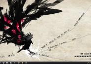 Black Bird Windows 7 Rainmeter Theme