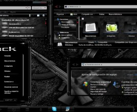 Black glass theme for windows 7