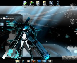 Black rock shooter theme for windows 7