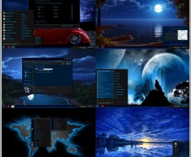 Blue night theme for windows 7