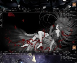 Blure Bars Rainmeter Skin For windows 7