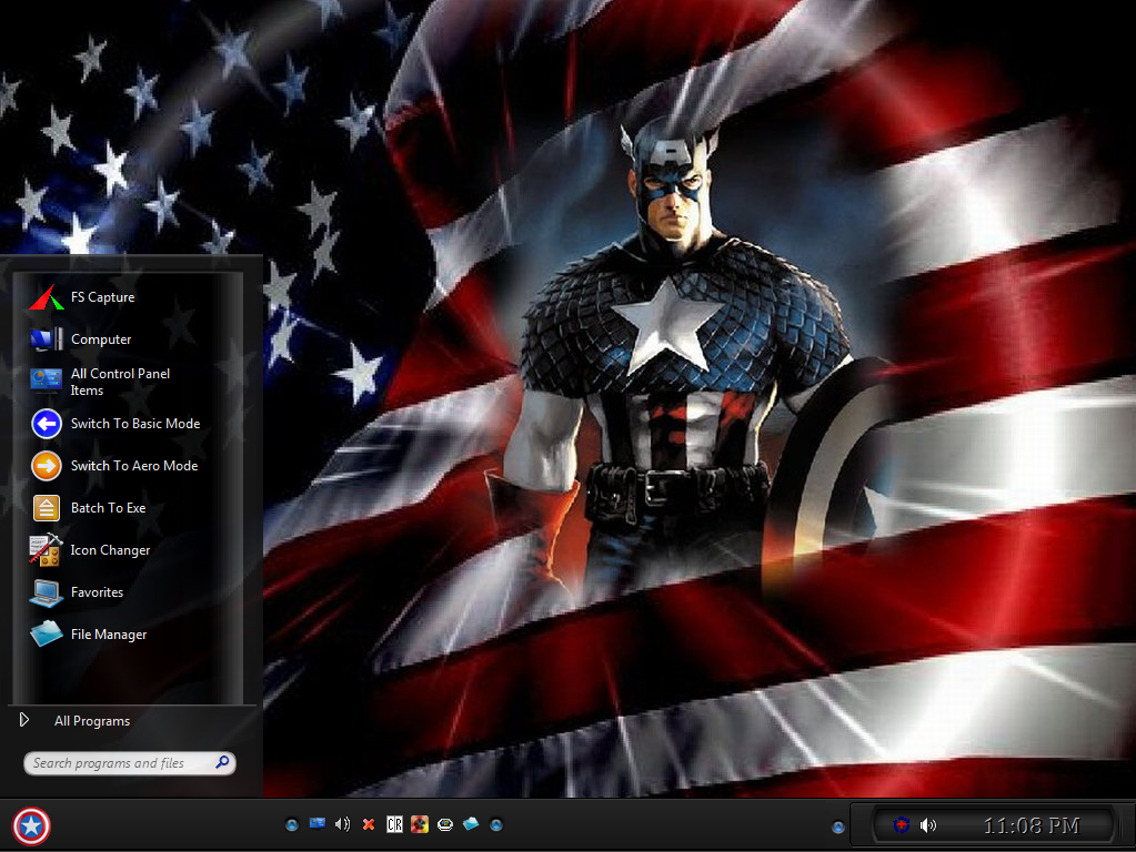 captain america theme for windows 7. Black Bedroom Furniture Sets. Home Design Ideas