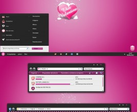 Celestica pink theme for windows 7