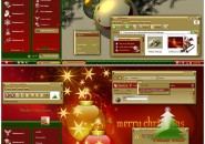 Christmas Holidays Windows Blind Theme
