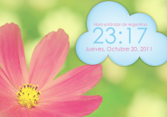 Cloud Clock Windows 7 Rainmeter Skin