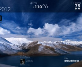 Cloudy Mount Rainmeter Theme For Windows 7