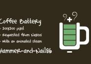 Cofee Battery Windows 7 Rainmeter Theme