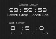 Count Down Black Windows 7 Rainmeter Theme