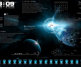 Dark Blue Galaxy Windows 7 Rainmeter Skin