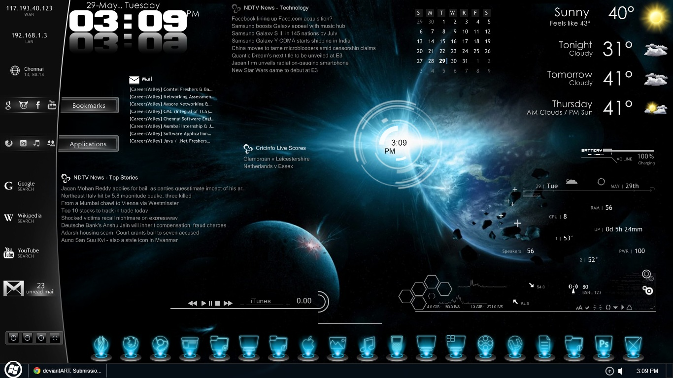 ... Is One Of The Most Downloaded Rainmeter Skins For Windows 7 Download