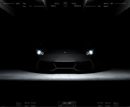 Dark Lamborghini Rainmeter Skin For Windows 7