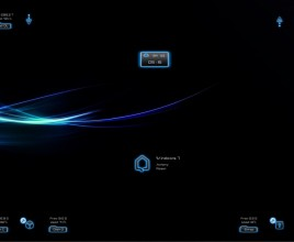 Dark Neon Blue Windows 7 Rainmeter Theme