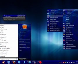 Dark blue 2 theme for windows 7