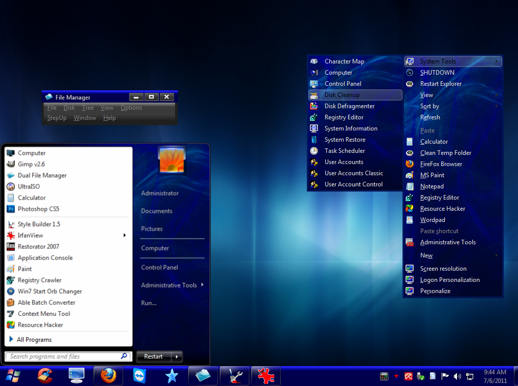 Energy blue theme for windows xp free download