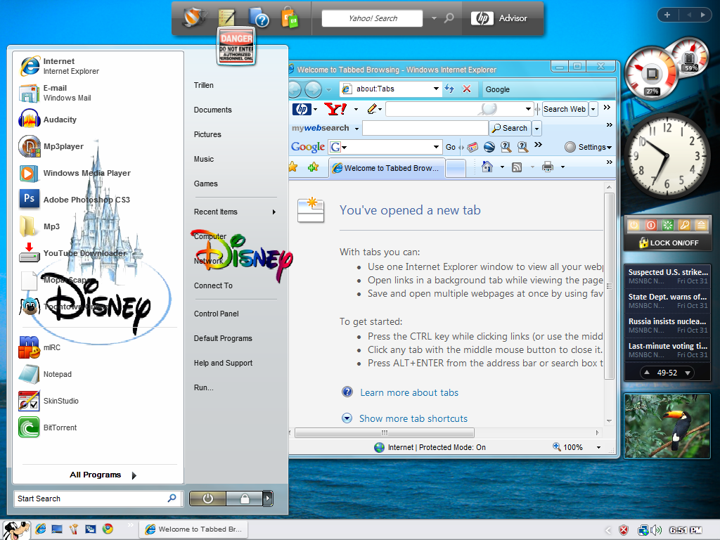 Disney Windows Blind Theme