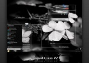 Elegant glass v2 theme for windows 7