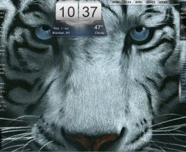 Ferocious Tiger Rainmeter Skin For Windows 7