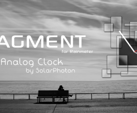 Fragment Analog Rainmeter Skin For Windows 7
