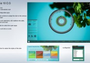 Gaia Leafy Scheme Rainmeter Skin For Windows 7