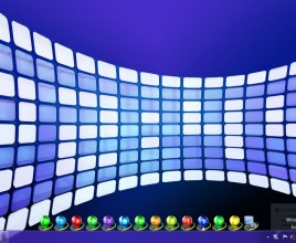 Galaxy Clock Windows 7 Rainmeter Skin