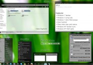 Green Glow Windows Blind Theme