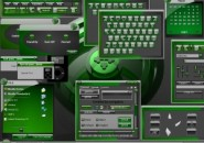 Green Jades Windows Blind Theme