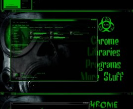Green biohazard theme for windows 7
