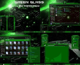 Green glass theme for windows 7