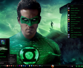 Green lantern theme for windows 7