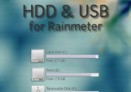 HDD and USB Rainmeter Skin For Windows 7