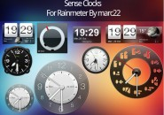 HTC Sense Clocks Rainmeter Theme