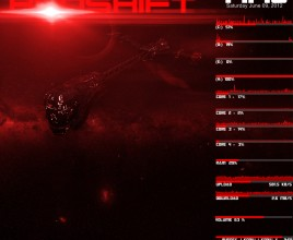 Horizon Red Shift Rainmeter Skin