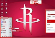 Houston Rockets Windows Blind Theme