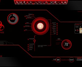 Infected Red Rainmeter Theme For Windows 7