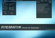 Integrator Blue Rainmeter Theme
