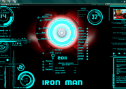 Iron Man Jarvis Latest Big Released Windows 7 Rainmeter Skin