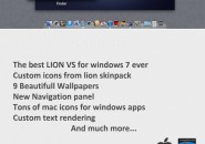 Lion theme for windows 7