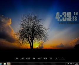 Lone Nature Windows 7 Rainmeter Skin