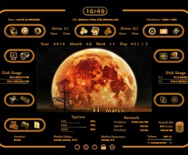 Luna Orange Windows 7 Rainmeter Skin