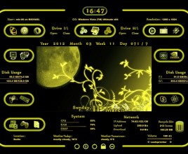 Luna Yellow Windows 7 Rainmeter Skin