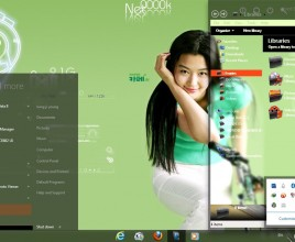 Mango on hyun theme for windows 7